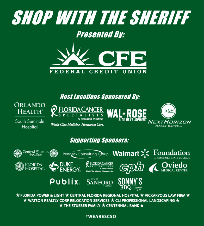 2018 shop with the sheriff sponsors